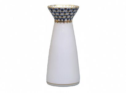 Ваза для цветов 159 мм Молодежная Кобальтовая сетка