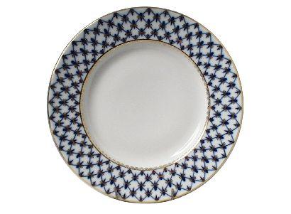 Тарелка 20 см Гладкая Кобальтовая сетка