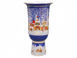 Ваза для цветов 380 мм Кубок Зимняя сказка