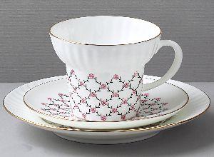 Комплект чайный 155 мл Волна Розовая сетка 1/3