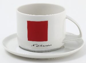 Чайная пара 295 мл Баланс Красный квадрат 1/2