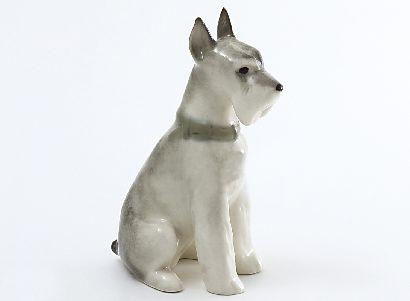 Скульптура Цвергшнауцер сидящий Нора