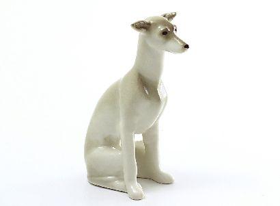 Скульптура Левретка сидящая Вильма арт.