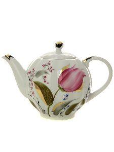 Чайник заварочный 600 мл Тюльпан Розовые тюльпаны