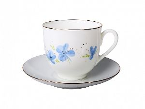 Кофейная пара 180 мл Ландыш Голубые цветы 1/2