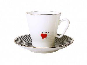 Кофейная пара 80 мл Черный кофе Сердечки 1 1/2