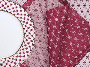 Подарочный набор 6 салфеток Сетка Бордо