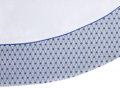 Скатерть круглая диаметр 180 с синей каймой в подарочной упаковке