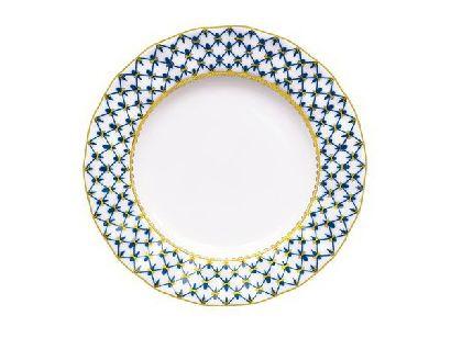 Тарелка 24 см Плоская Кобальтовая сетка