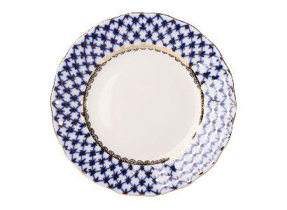 Тарелка мелкая 15 см Тюльпан Кобальтовая сетка