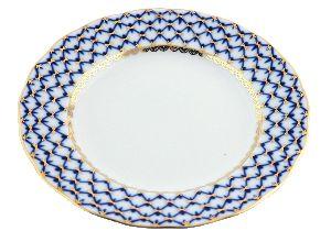 Тарелка 18 см Тюльпан Кобальтовая сетка