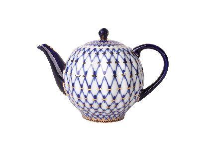 Чайник заварочный 600 мл Тюльпан Кобальтовая сетка