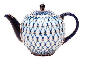 Чайник доливной 2000 мл Тюльпан Кобальтовая сетка