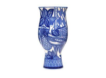 Ваза для цветов 238 мм Цветок Синяя птица