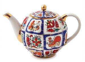 Чайник заварочный 600 мл Тюльпан Русский лубок