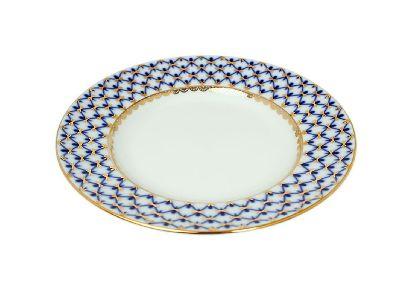 Тарелка мелкая 18 см Гладкая Кобальтовая сетка