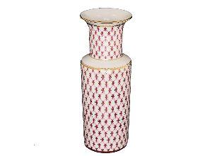 Ваза для цветов 27 см Цилиндрическая Сетка-Блюз