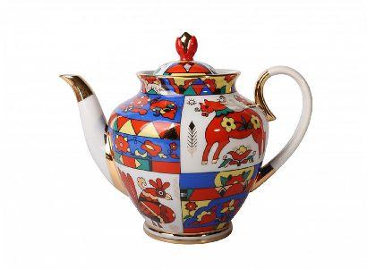 Чайник заварочный 800 мл Весенняя Народные узоры