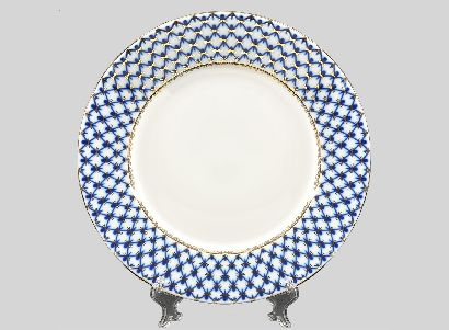 Тарелка 26,5 см Европейская Кобальтовая сетка