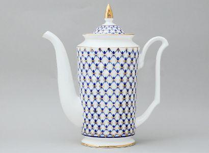 Кофейник 690 мл Юлия Кобальтовая сетка