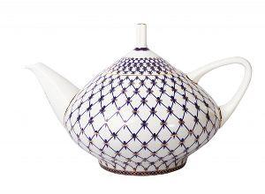 Чайник заварочный 1400 мл Купольная Кобальтовая сетка
