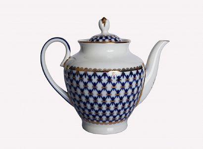 Чайник заварочный 800 мл Весенняя Кобальтовая сетка