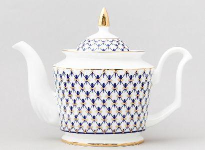 Чайник заварочный  700 мл Юлия Кобальтовая сетка