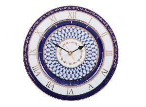 Часы декоративные 270 мм Европейская-2 Кобальтовая сетка