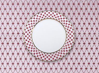 Скатерть квадратная 145х145 сетка Бордо в подарочной упаковке