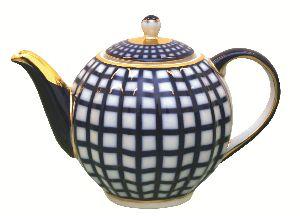 Чайник заварочный 600 мл Тюльпан Кобальтовая клетка
