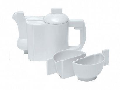 Пятипредметный чайный комплект Малевича Белый