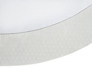 Скатерть овальная 180x230 с серебристой каймой в подарочной упаковке